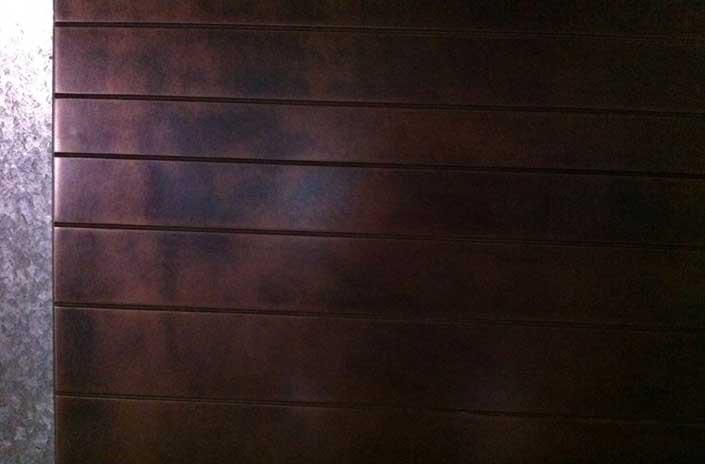 Door with Copper metal finishing