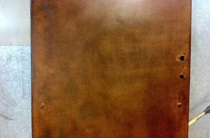 Door With Corten Metal Finishing